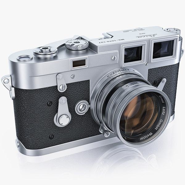 3d model of retro photo camera leica