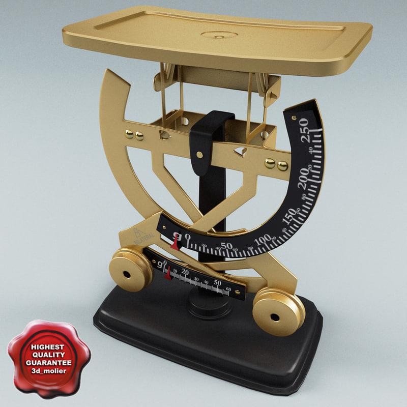 3d model letter balance