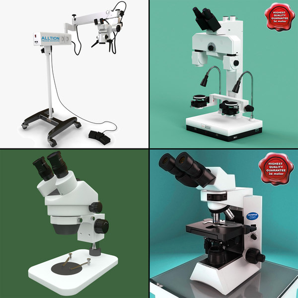 3d microscopes set trinocular