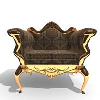 3ds ornamented 1 seater chair