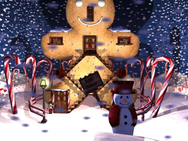 3d gingerbread man christmas