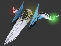 Arwing - StarFox - High Poly