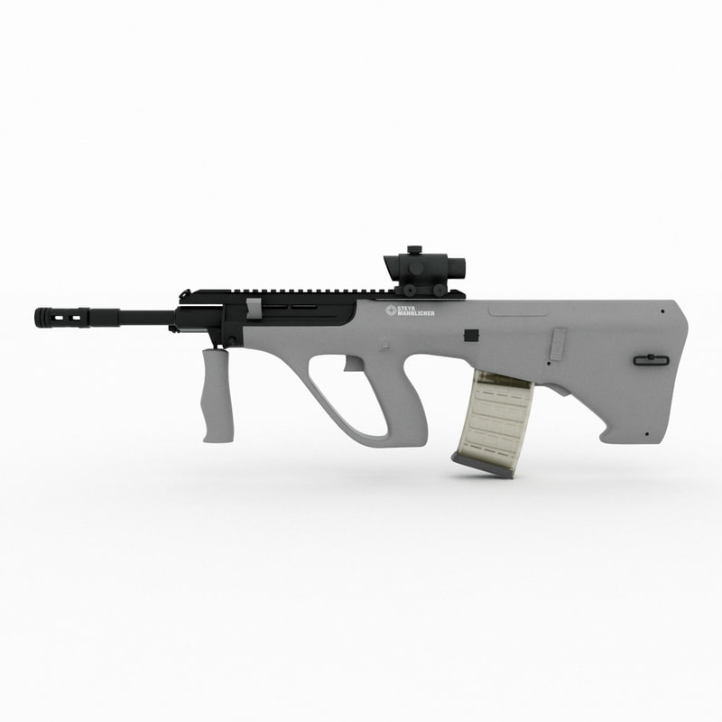 steyr aug a3 acog 3d model