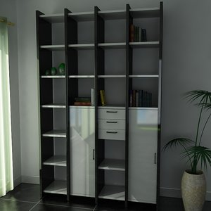 3d model shelf unit