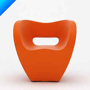 3d obj victoria albert small armchair