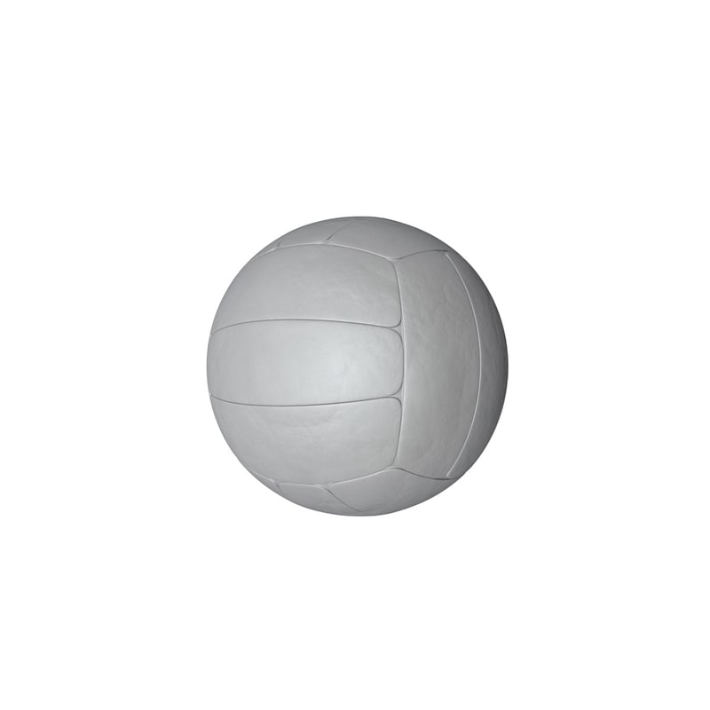 free obj model volleyball ball