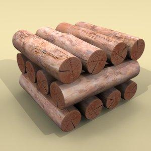 firewood logs 3d 3ds