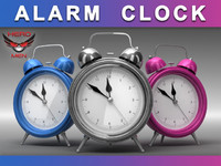 render alarm clock 3d max