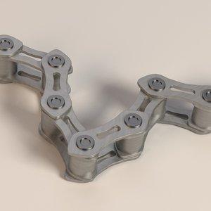3ds max bike chain