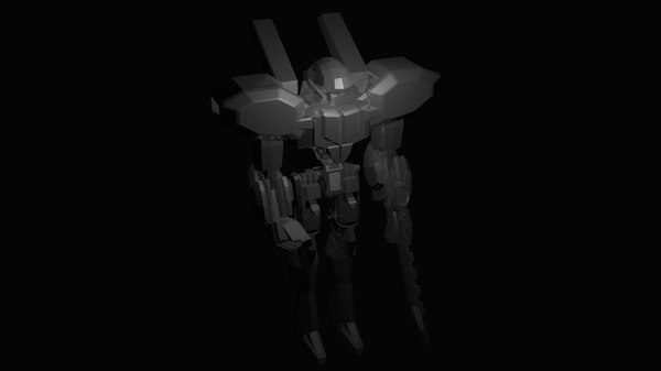 free melee biped robot 3d model