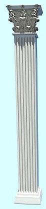 corinth column 3d model