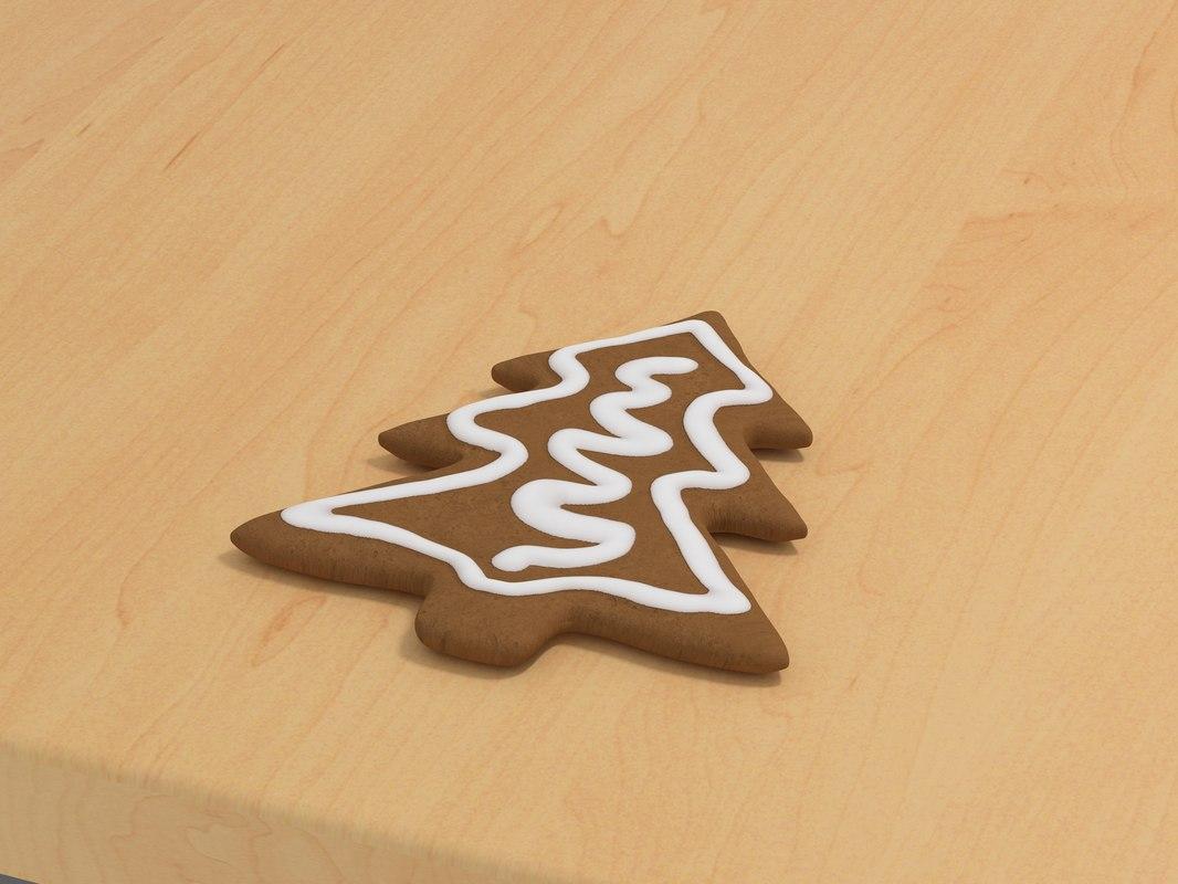 gingerbread xmas tree 3d model