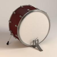 bass drum pedal 3d model