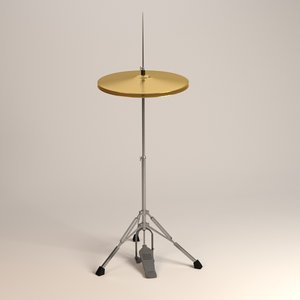 hi-hat cymbal 3d 3ds