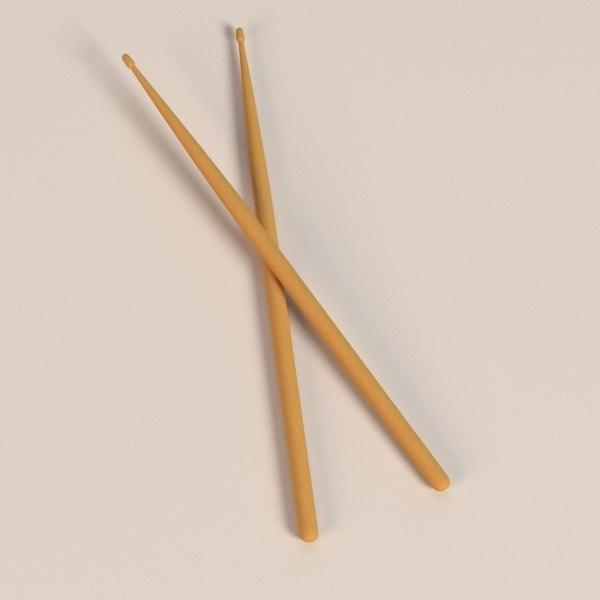 3d drum stick