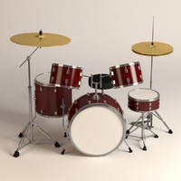 drumkit drum 3d 3ds