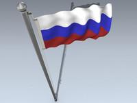 3d model flag russian federation