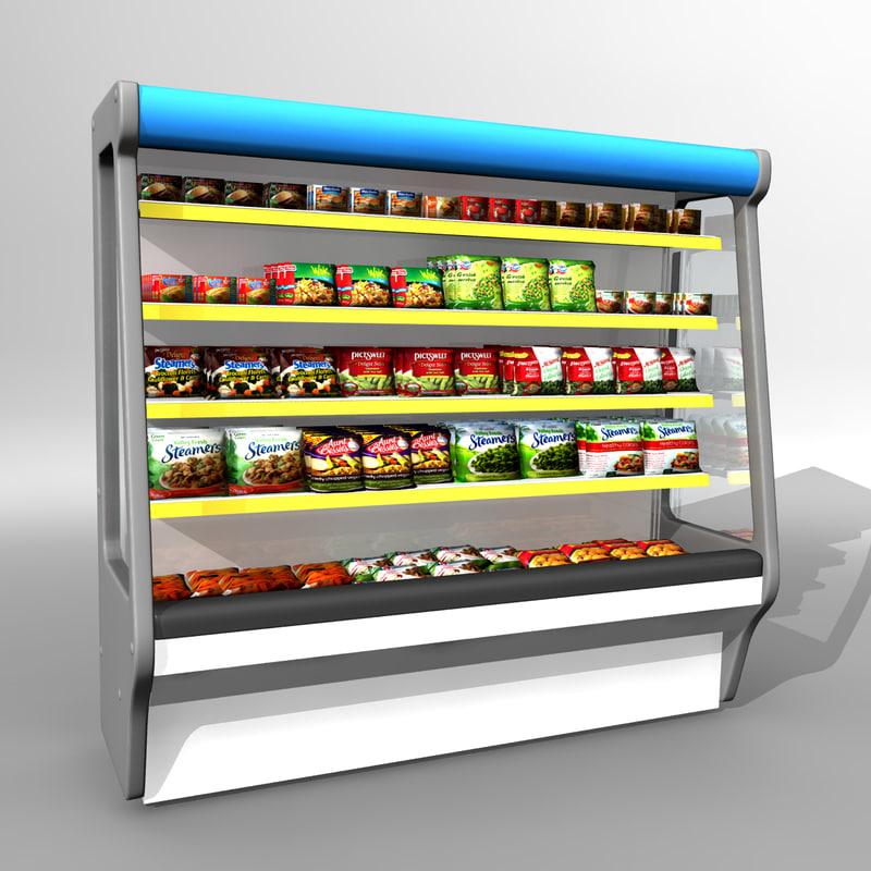 display freezer 3d model