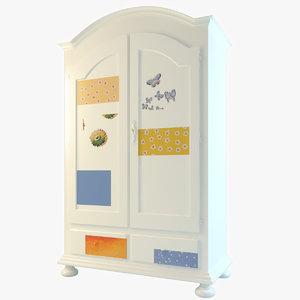 pedretti balocchi cabinet 3d max