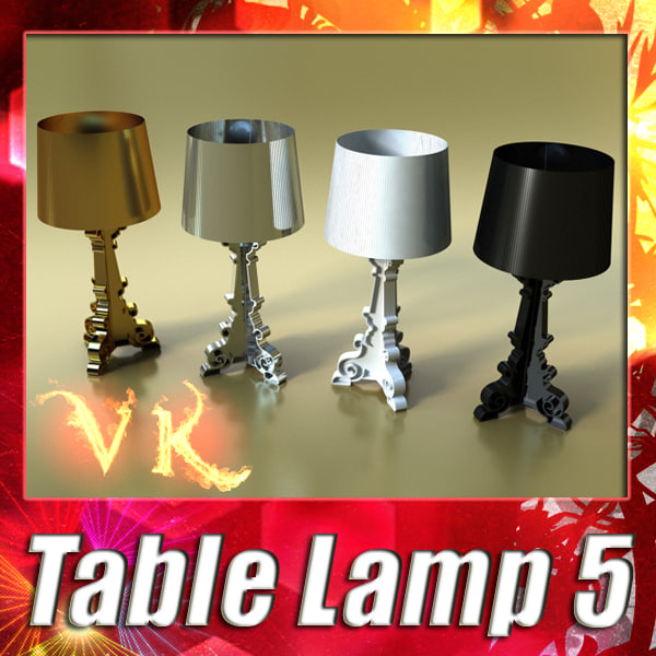 3d modern table lamp 05 model