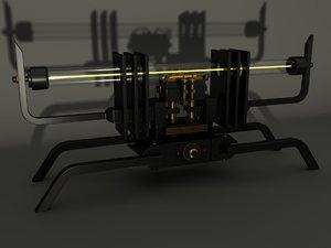 steampunk lamp interior 3d max