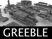 3d greebled structures