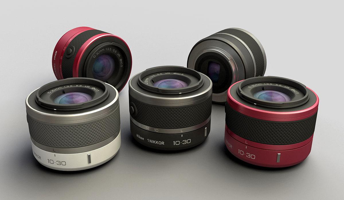 3ds max nikkor 1 10-30mm lens