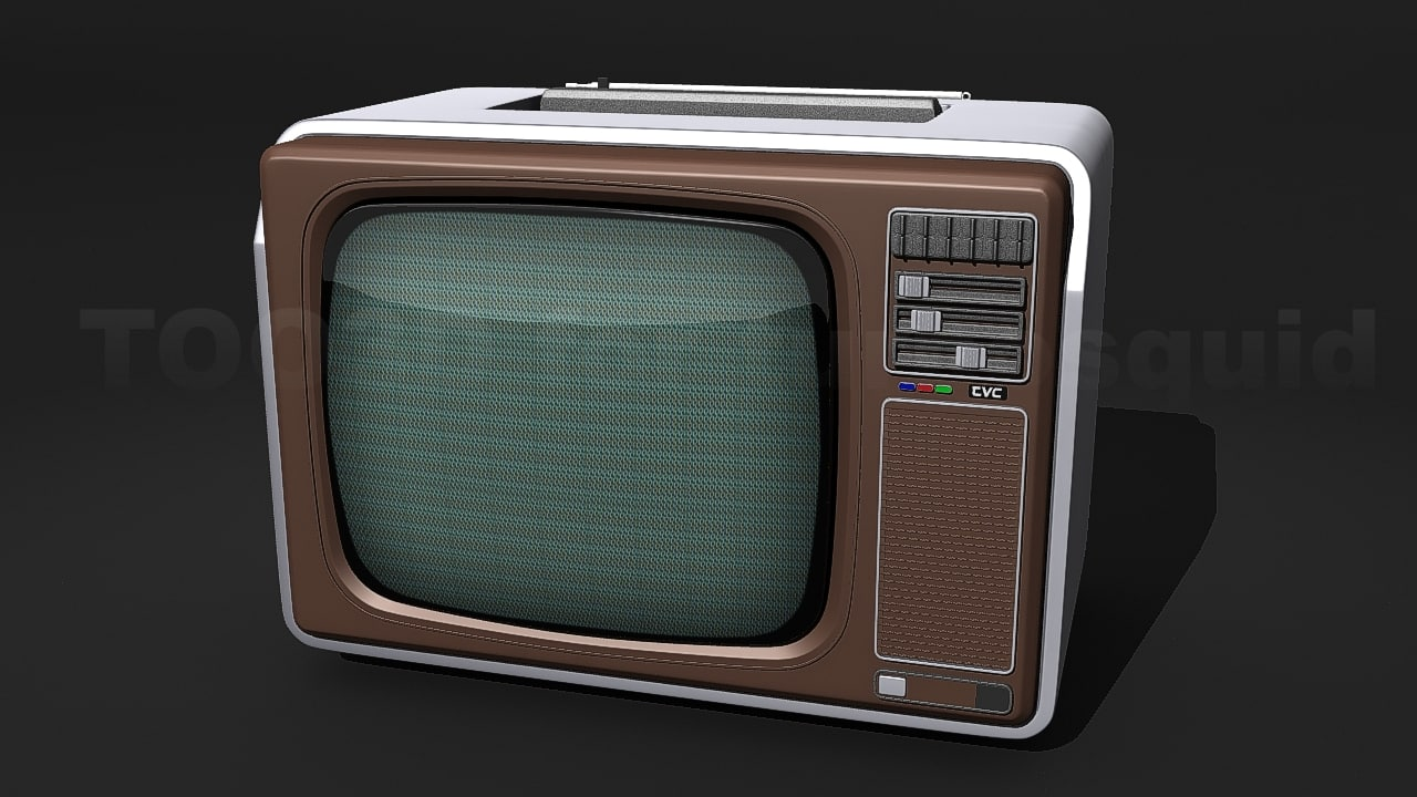 3d model of old tv philips