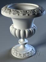 3d model vase concrete