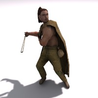 Low poly Germanic Slinger