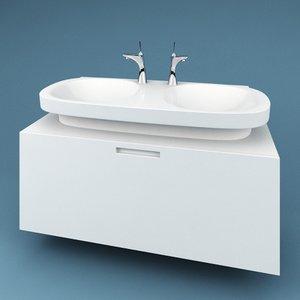 3d model bathroom sink