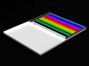 colour pencils 3d max