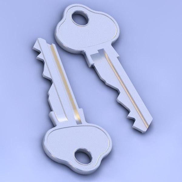key 08 3d model