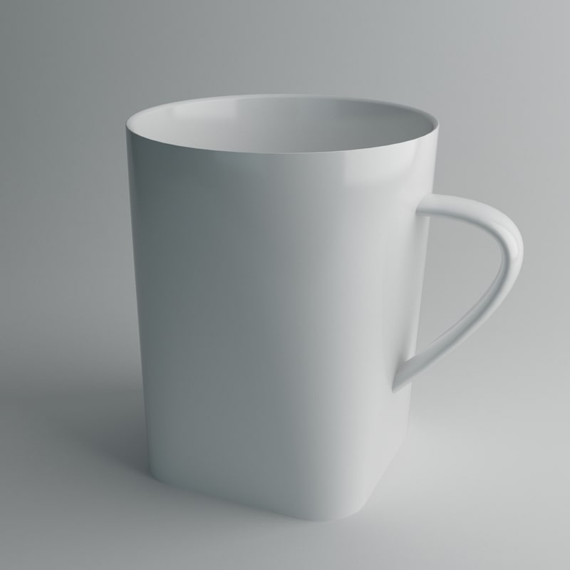 3d porcelain cup model