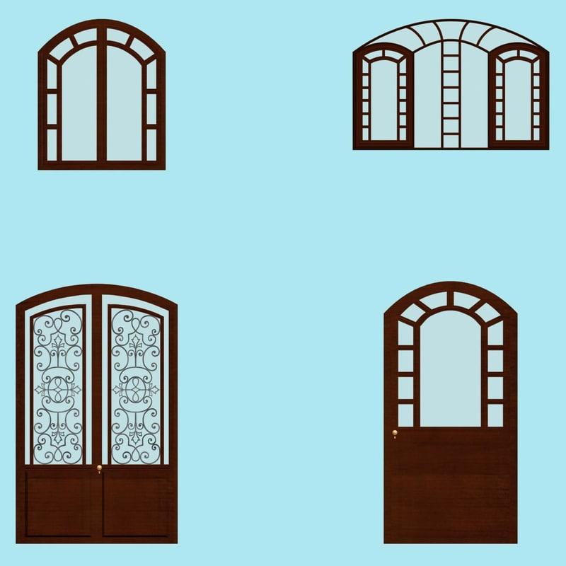 windows door 3d model