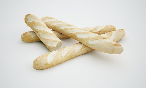 3d model french baguette
