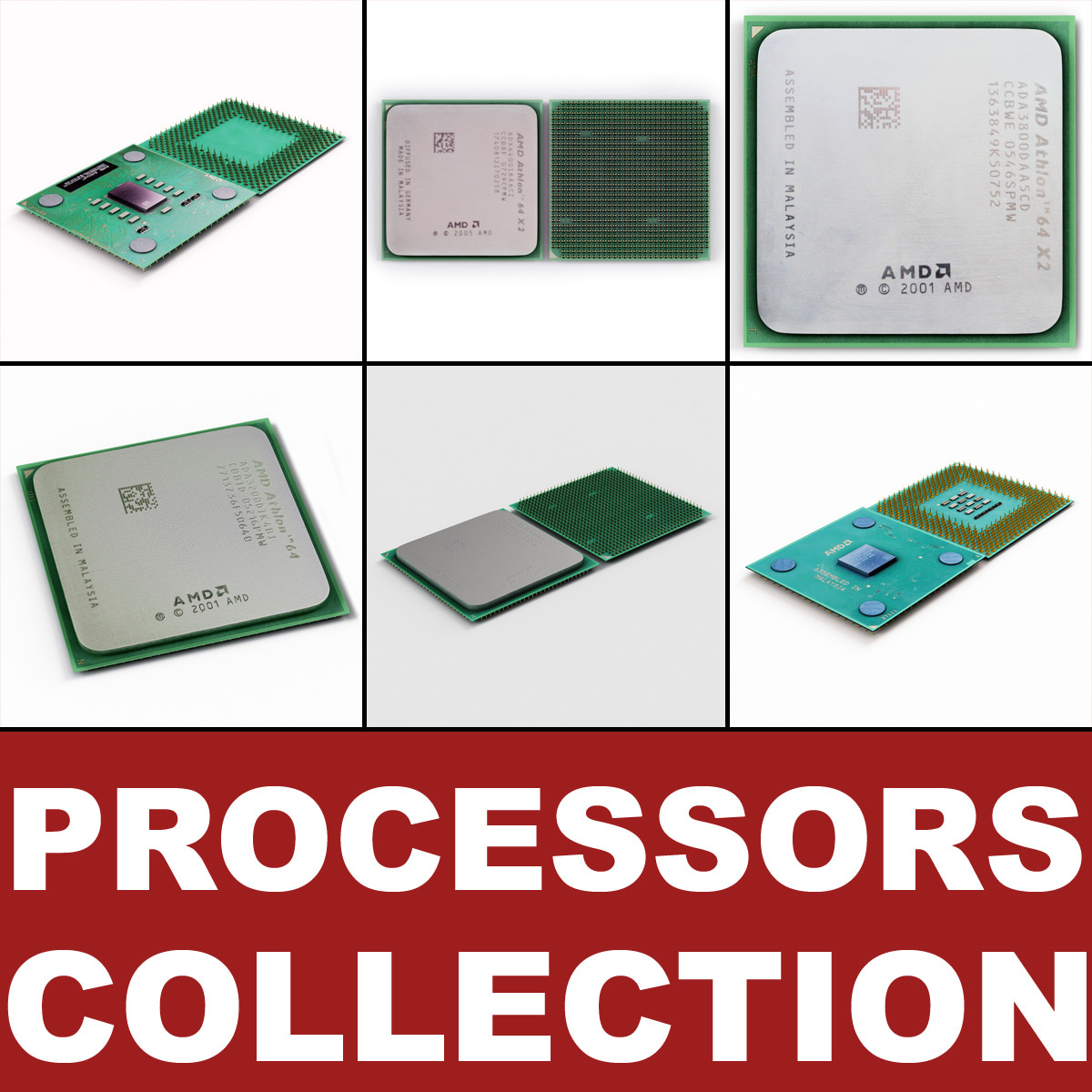 3d model amd processors