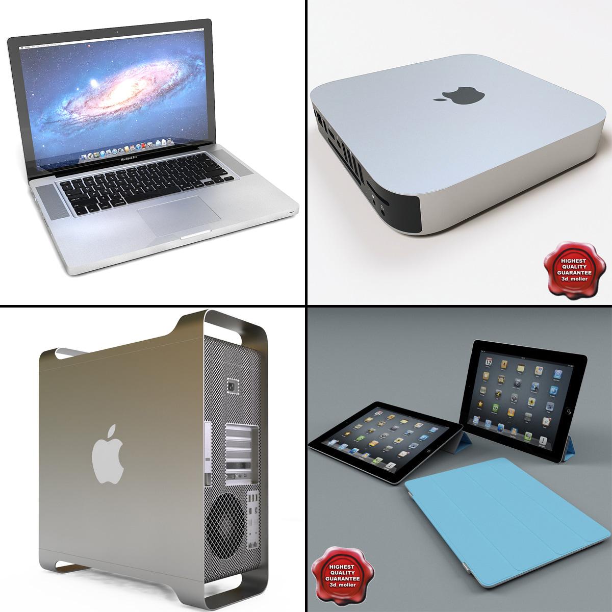 3d apple computers v2 model