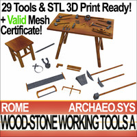 3d rome wood stone working