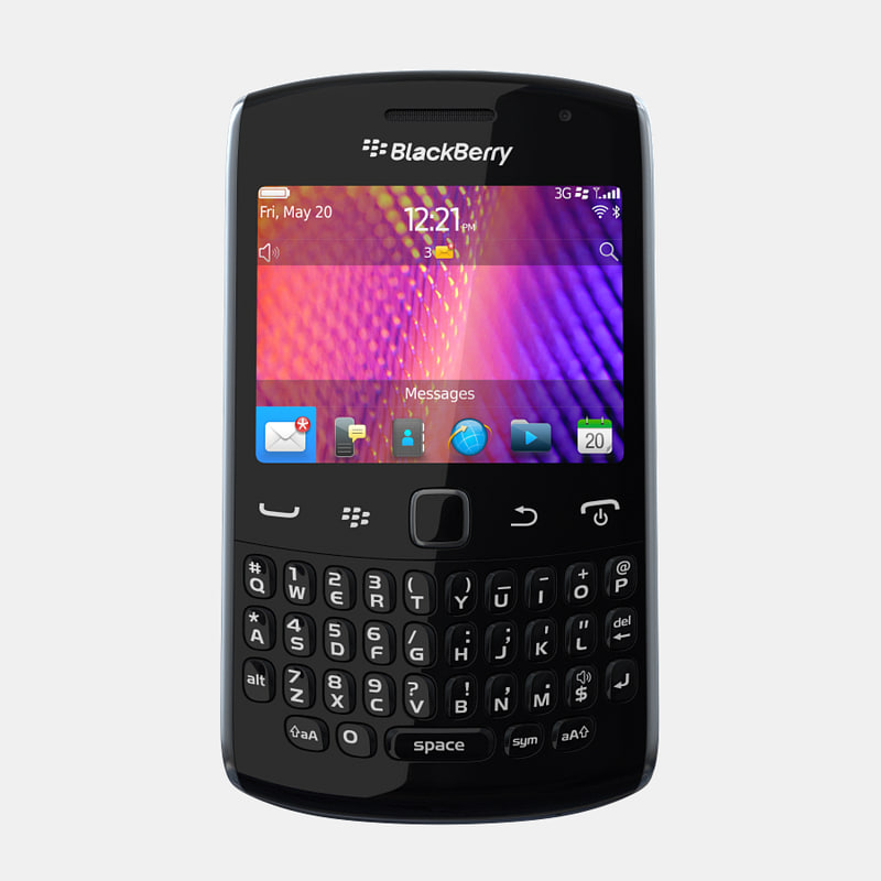 3d blackberry curve 9360 9350 model