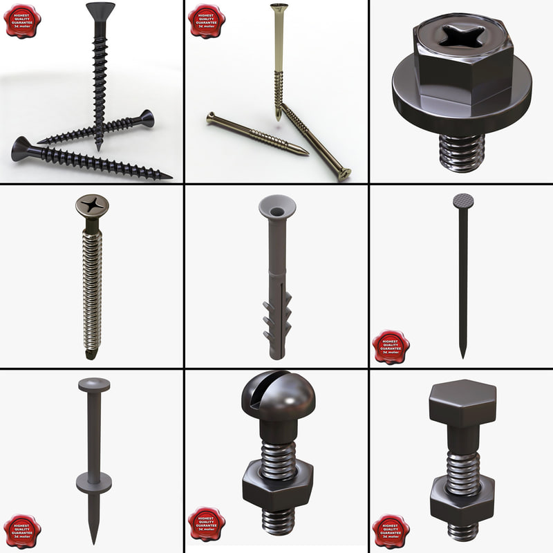 screws bolt 3d model