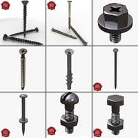 screws bolt 3d model