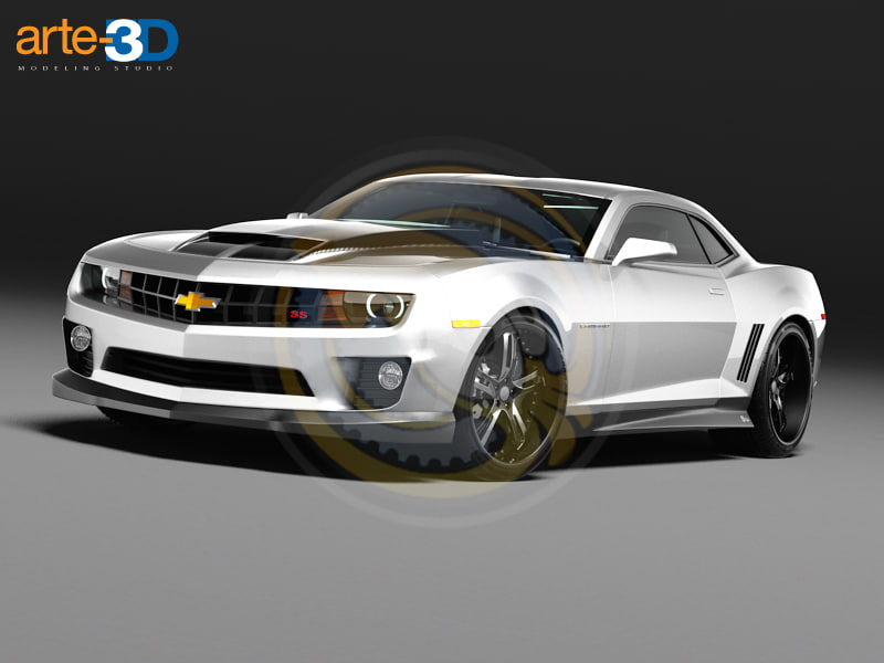 camaro unrestricted 3d max