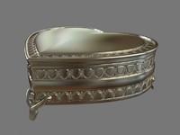 3d model silver casket