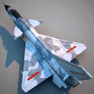 chengdu j-10 china fighter aircraft 3d c4d