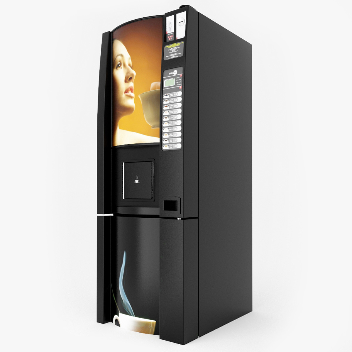 3d coffee vending machine v4 model