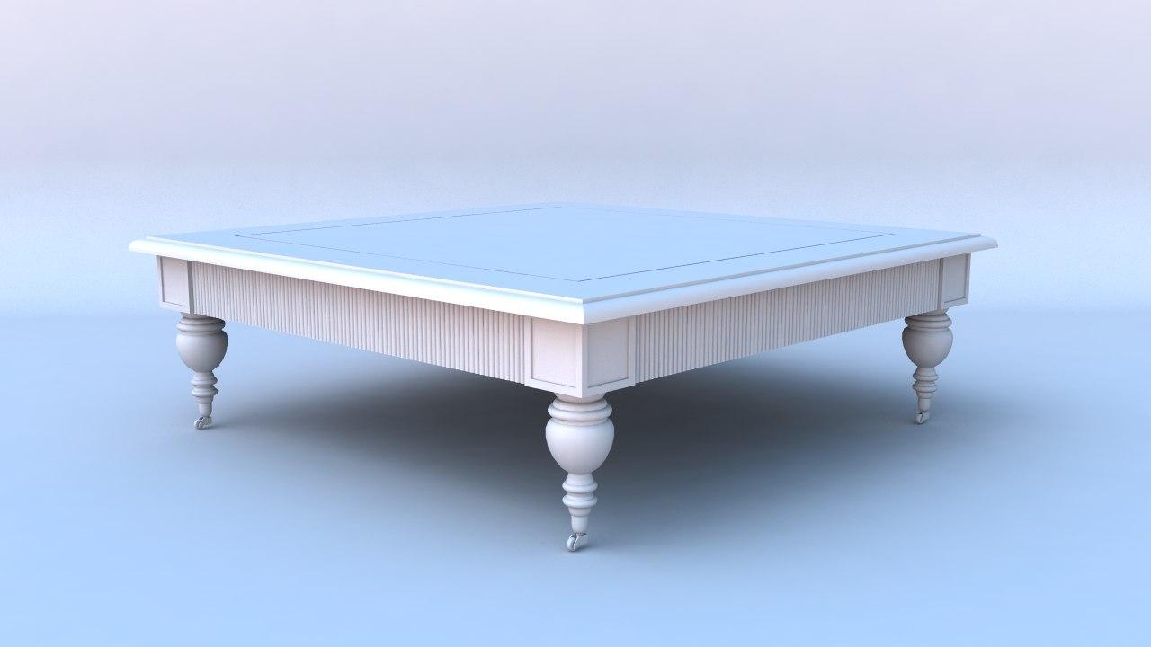 3d model big table