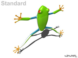 rigged tree frog 3d max