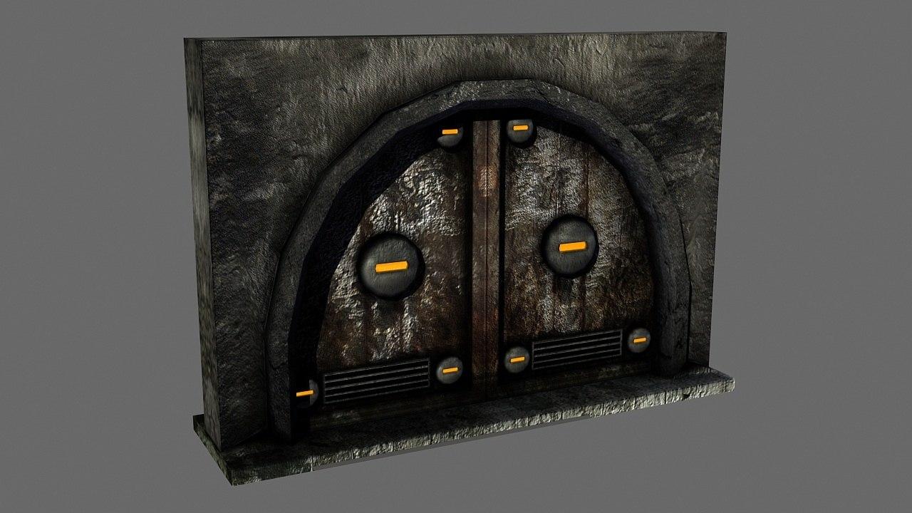 3d industrial door model