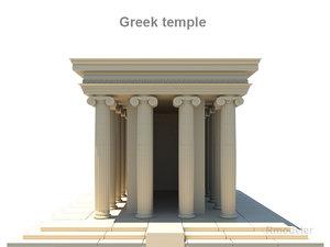 3d greek temples model